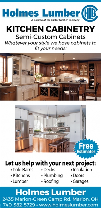 Kitchen Cabinetry - Semi - Custom Cabinets