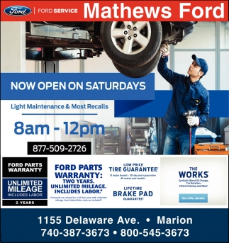 Low Price - Tire Guarantee - Now Open On Saturdays