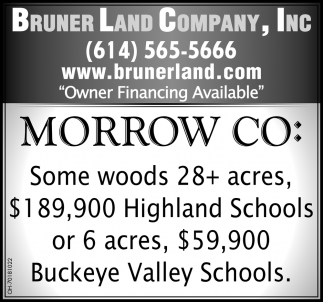 Morrow Co: Some Woods 28+ Acres