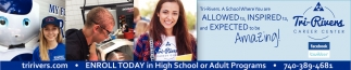Enroll today in High School or Adult Programs