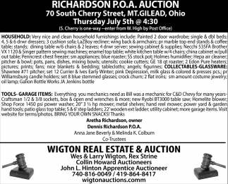 Richardson P.O.A. Auction