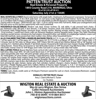 Patten Trust Auction