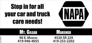 Stop in for all your car and truck care needs