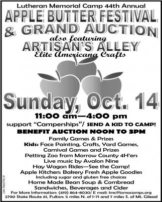 Apple Butter Festival & Grand Auction