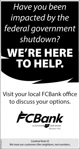 Visit your local FCBank office