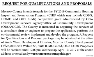 Request for Qualifications and Proposals