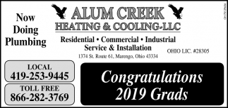 Congratulations 2019 Grads