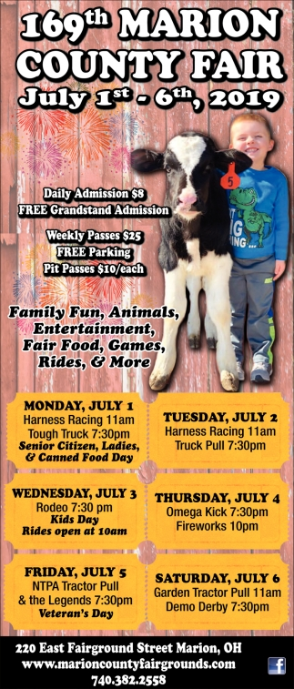 169th Marion County Fair -~ July 1st - 6th