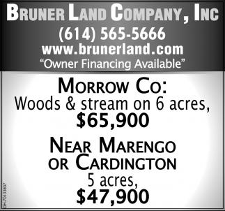 Woods & Stream on 6 acres $65,900