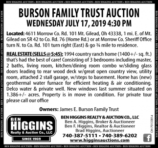 Burson Family Trust Auction
