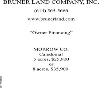 owner financing bruner land company