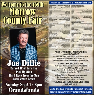 Welcome to the 169th Morrow County Fair