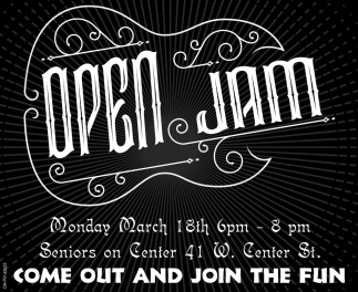 Open Jam  March 18th