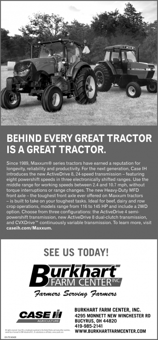 Behind every great tractor is a great tractor