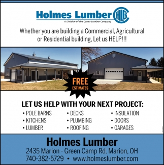 Wheter you are building a Commercial, Agricultural or Residential building, Let us Help!