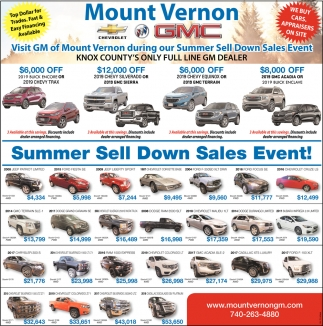 Summer Sell Down Sales Event