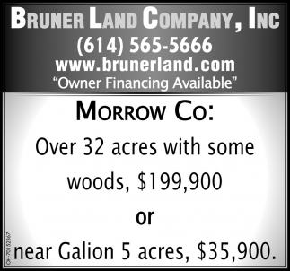 Over 32 acres with some woods, $199,900 or near Galion 5 acres, $35,900