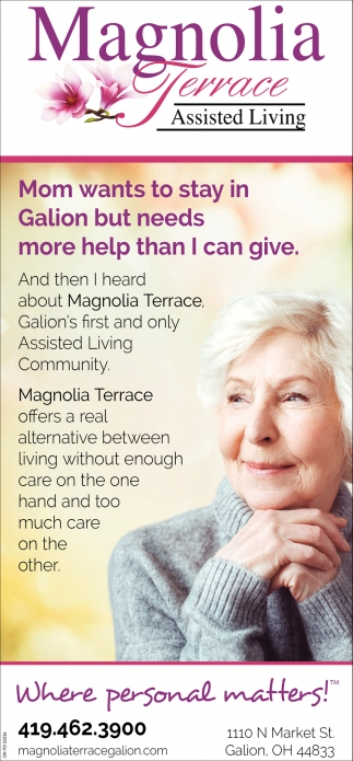 Mom wants to stay in Galion but needs more help than I can give