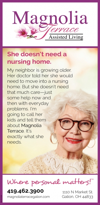 She doesn't need a nursing home