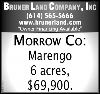 Morrow Co: Marengo 6 acres, $69,900